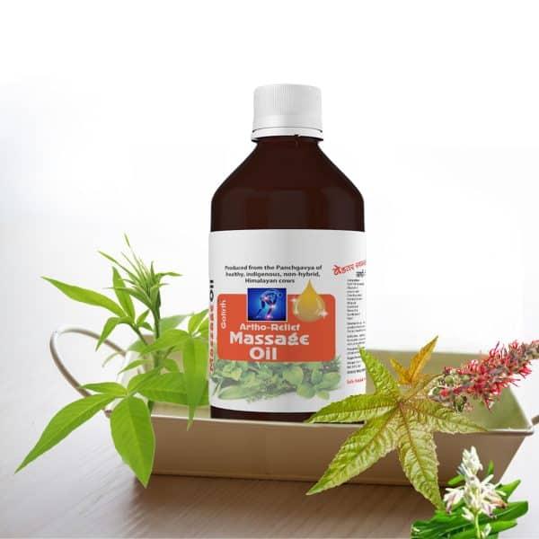 Gomutra massage oil