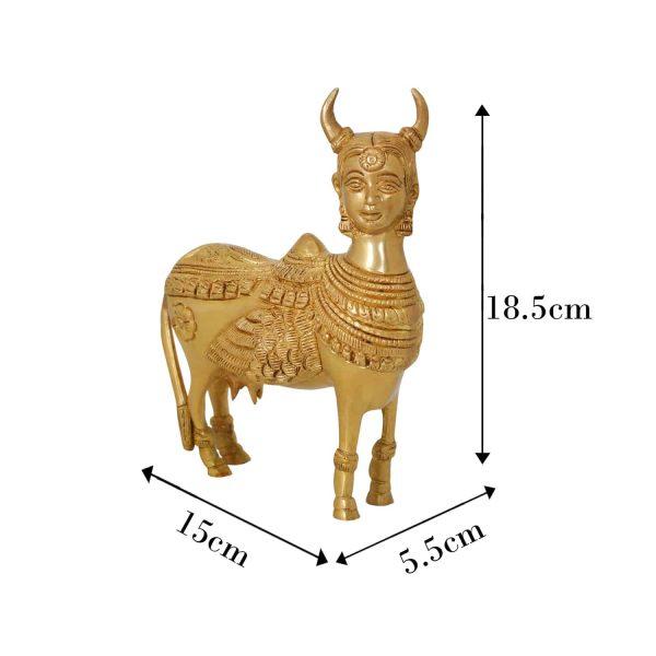 kamadhenu idol in brass